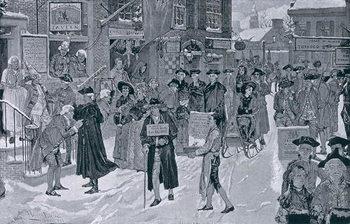 Christmas Morning in Old New York Before the Revolution, illustration from Harper's Weekly, pub. 25th December 1880 Reprodukcija umjetnosti