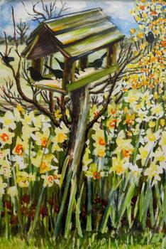 Daffodils, and Birds in the Birdhouse, 2000, Reprodukcija umjetnosti