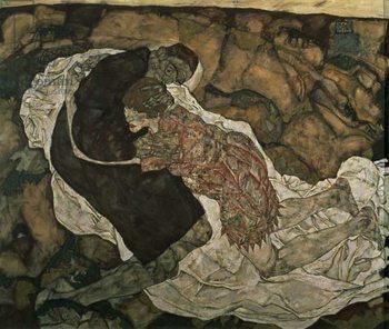 Death and the Maiden , 1915 Reprodukcija umjetnosti