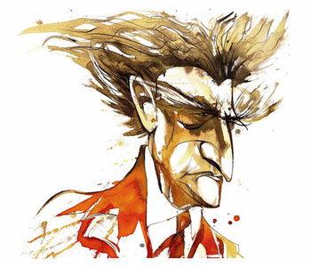 Edgard Varese - colour caricature Reprodukcija umjetnosti