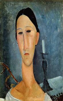 Hanka Zborowska with a Candlestick, 1919 Reprodukcija umjetnosti