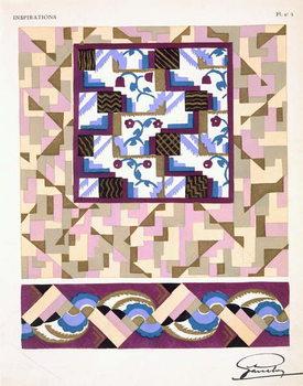 Interior design pattern, plate 5 from 'Inspirations', published Paris, 1930s Reprodukcija umjetnosti