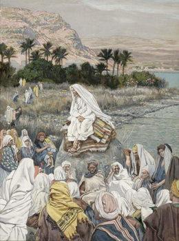 Jesus Preaching by the Seashore, illustration for 'The Life of Christ', c.1886-96 Reprodukcija umjetnosti