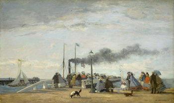 Jetty and Wharf at Trouville, 1863 Reprodukcija umjetnosti