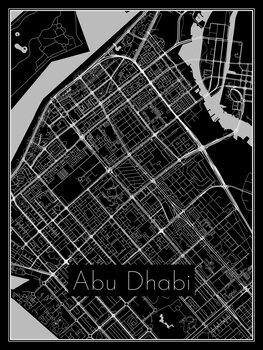 Ilustracija Map of Abu Dhabi