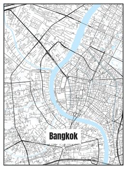 Ilustracija Map of Bangkok