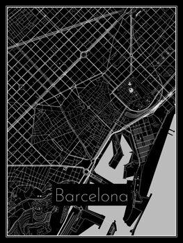 Ilustracija Map of Barcelona