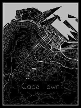 Ilustracija Map of Cape Town