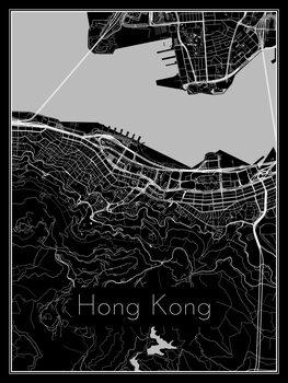Ilustracija Map of Hong Kong