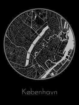 Ilustracija Map of København