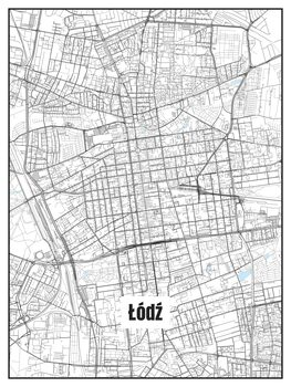 Ilustracija Map of Łódź