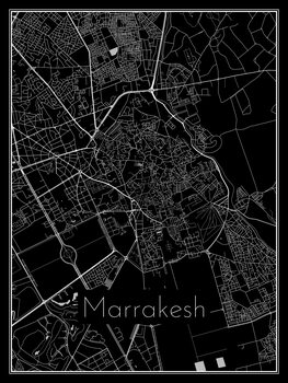 Ilustracija Map of Marrakesh