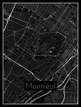 Ilustracija Map of Montréal