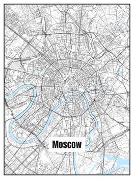 Ilustracija Map of Moscow