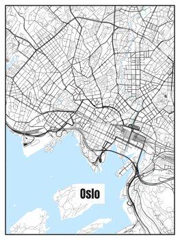 Ilustracija Map of Oslo