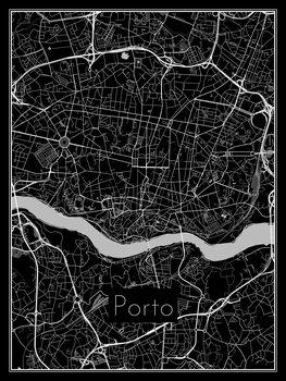 Ilustracija Map of Porto