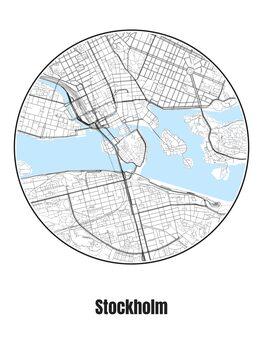 Ilustracija Map of Stockholm