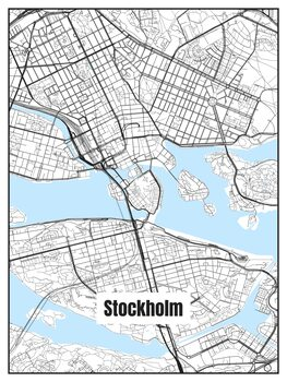 Ilustracija Map of Stockholm