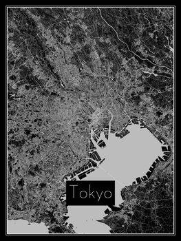 Ilustracija Map of Tokyo