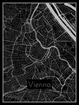 Ilustracija Map of Vienna