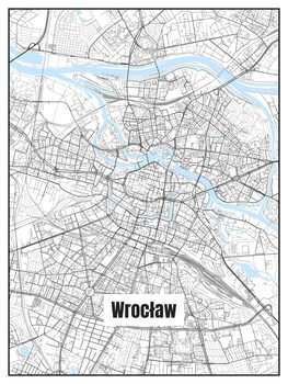 Ilustracija Map of Wrocław