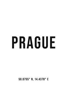 Ilustracija Prague simple coordinates