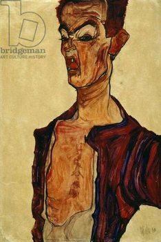 Self Portrait Screaming Reprodukcija umjetnosti
