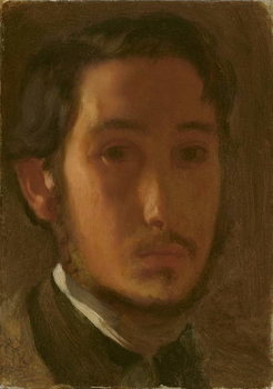 Self-Portrait with White Collar, c.1857 Reprodukcija umjetnosti