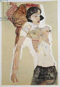 Seminude Female Figure Reprodukcija umjetnosti