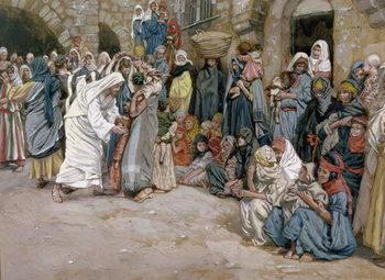 'Suffer the Little Children to Come Unto me', illustration for 'The life of Christ', c.1886-96 Reprodukcija umjetnosti