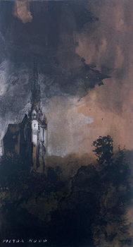 The Castle in the Moonlight Reprodukcija umjetnosti