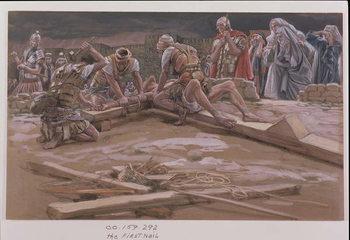 The First Nail, illustration for 'The Life of Christ', c.1886-96 Reprodukcija umjetnosti