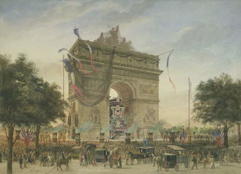 The Funeral of Victor Hugo (1802-85) 1885 Reprodukcija umjetnosti