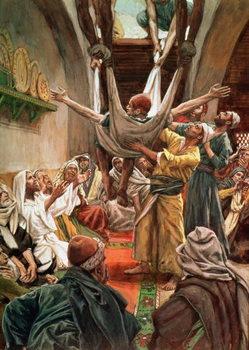 The Palsied Man Let Down Through the Roof, illustration for 'The Life of Christ', c.1886-94 Reprodukcija umjetnosti