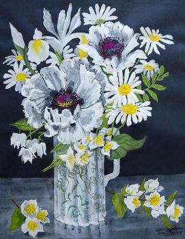 White Poppies, Marguerites and Philadelphus, Reprodukcija umjetnosti