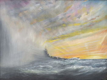 Yamato emerges from Pacific Typhoon 1944, 2010, Reprodukcija umjetnosti