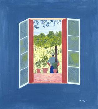 Zaid Through the Window, 1986 Reprodukcija umjetnosti