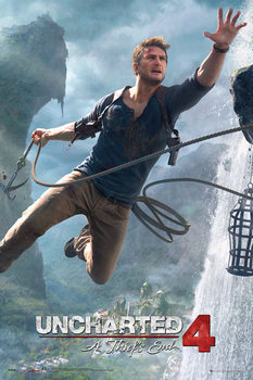 Uncharted 4: A Thief's End - Jump - плакат (poster)