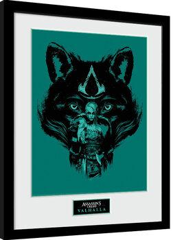 Uramljeni poster Assassin's Creed: Valhalla - Wolf