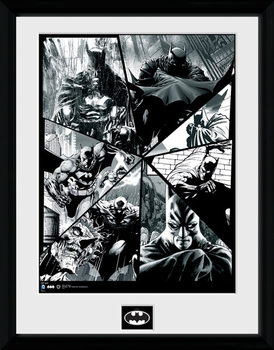 Batman Comic - Collage uokvireni plakat - pleksi