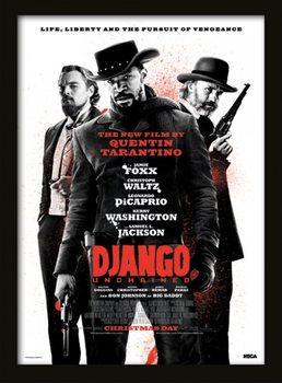 Django Unchained - Life, Liberty and the pursuit of vengeance uokvireni plakat - pleksi