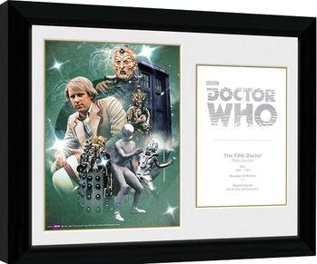 Uramljeni poster Doctor Who - 5th Doctor Peter Davison