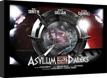 Uramljeni poster DOCTOR WHO - asylum of daleks