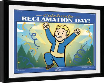 Uramljeni poster Fallout 76 - Reclamation Day