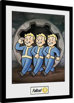 Uramljeni poster Fallout 76 - Vault Boys