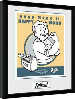 Uramljeni poster Fallout - Hard Work