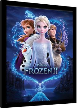 Uramljeni poster Frozen 2 - Magic