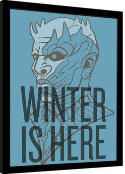 Uramljeni poster Game of Thrones - Winter Is Here