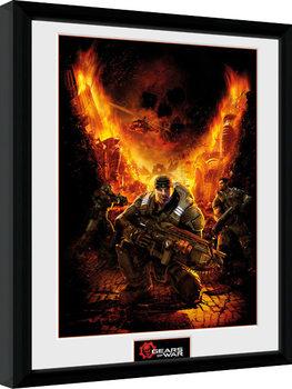 Gears of War - Gears 1 uokvireni plakat - pleksi