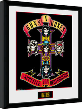 Uramljeni poster Guns N Roses - Appetite